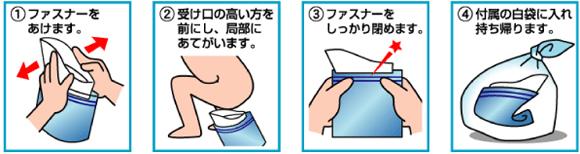 緊急トイレ プルプル使用方法